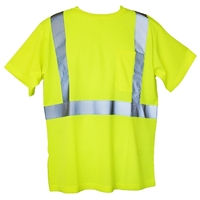Yellow S/M Short Sleeve Hi-Viz Safety T-Shirt