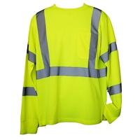 Yellow 4XL/5XL Long Sleeve Hi-Viz Safety T-Shirt