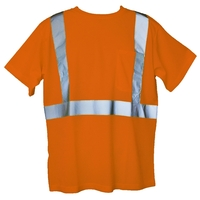 Orange 4XL/5XL Short Sleeve Hi-Viz Safety T-Shirt
