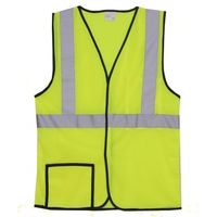 Single Stripe S/M Yellow Mesh Safety Vest