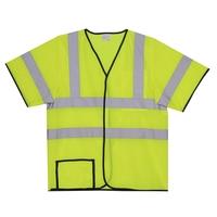 L/XL Yellow Mesh Short Sleeve Safety Vest