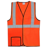 Single Stripe S/M Orange Solid Safety Vest