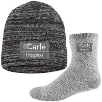 Fashion Fuzzy Socks and Knit Beanie Combo