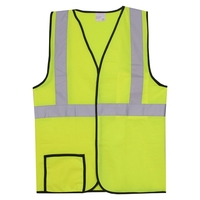 Single Stripe 2XL/3XL Yellow Solid Safety Vest