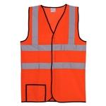 Dual Stripe L/XL Orange Mesh Safety Vest