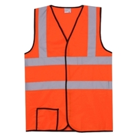 Dual Stripe S/M Orange Solid Safety Vest