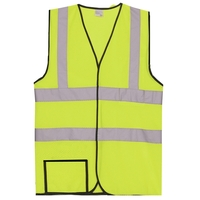 Dual Stripe S/M Yellow Mesh Safety Vest