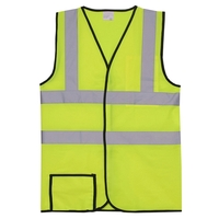 Dual Stripe S/M Yellow Solid Safety Vest