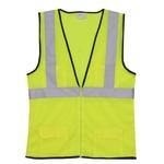 2XL/3XL Yellow Mesh Zipper Safety Vest