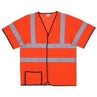 2XL/3XL Orange Mesh Short Sleeve Safety Vest