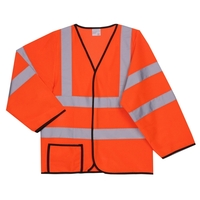 2XL/3XL Orange Mesh Long Sleeve Safety Vest