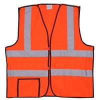 Orange Solid Break-Away Safety Vest