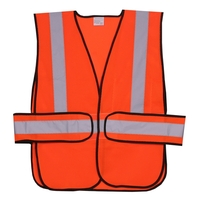 Orange Mesh Side Strap Safety Vest
