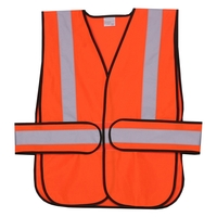 Orange Solid Side Strap Safety Vest