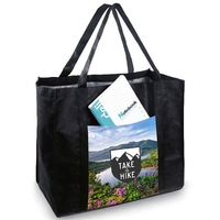 """Jumbo 18"""" Open Pocket Tote( by AIR to CA)"""