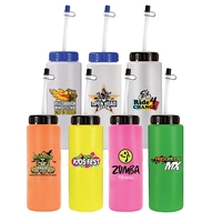 32oz. Sports Bottle With Flexible Straw, Full Color Digital