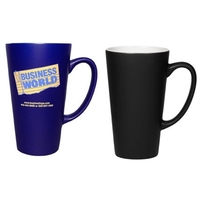 16oz Two-Tone Cafe Latte Satin Mug, spot color