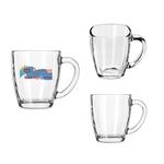 14oz Square Clear Glass Bistro Mug