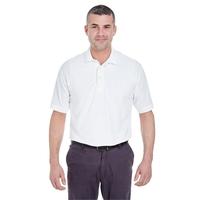 UltraClub® Men's Whisper Pique Polo