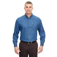 UltraClub® Men's Tall Cypress Denim with Pocket
