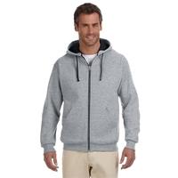 Jerzees (R) Adult 8 oz. NuBlend(R) Contrast Full-Zip Hood