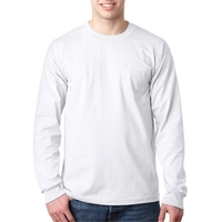 Bayside (R) Adult Long-Sleeve T-Shirt with Pocket