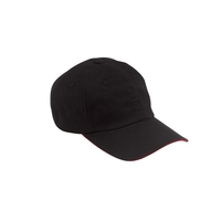 Big Accessories 6-Panel Unstructured Cap with Sandwich Bill