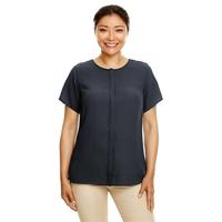 Devon & Jones® Ladies' Perfect Fit™ Short-Sleeve Crepe Bl...