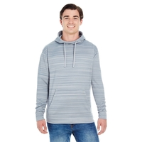 J America® Adult Odyssey Striped Poly Fleece Pullover Hood