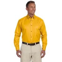 Harriton Men's Easy Blend™Long-Sleeve Twill Shirt wit...