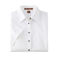 Harriton Ladies' Easy Blend™ Short-Sleeve Twill Shirt ...