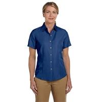 Harriton Ladies' Barbados Textured Camp Shirt