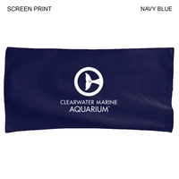 Velour Colored Towel, 22x44, Printed or Blank