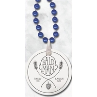 Round Mardi Gras Beads with Imprint on Disk