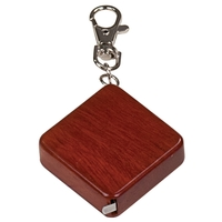 """1.75"""" x 1.75"""" - Rosewood Tape Measure Keychain - Engraved"""