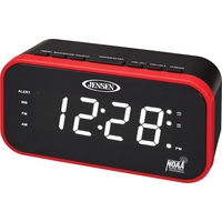Jensen AM/FM Weather Band Clock Radio with Weather Alert