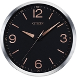 Citizen Brushed Silver Wall Clock