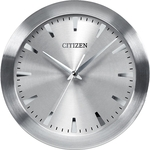 Citizen Wall Clock w/Gray Dial in Brushed Silver-Tone Frame