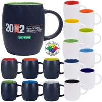 12oz Satin Two-Tone Robusto Mug, spot color