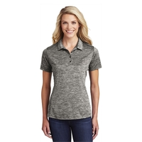 Sport-Tek Ladies PosiCharge Electric Heather Polo.