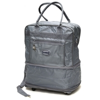 Expandable tote with wheels