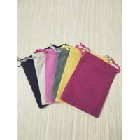 Flannelette pouch velvet drawstring bag