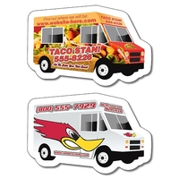 Magnet - Food Truck / Delivery Truck Shape (4x2.6) - 20 mil.