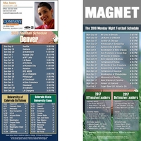 Denver Football Schedule Magnet
