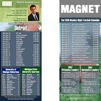 Detroit Football Schedule Magnet