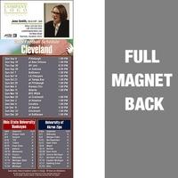 Cleveland Full Color Football Schedule Vinyl Magnet