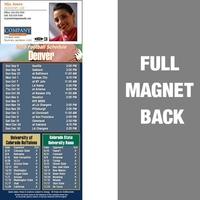 Denver Full Color Football Schedule Vinyl Magnet