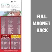 Atlanta Full Color Football Schedule Vinyl Magnet