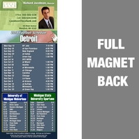 Detroit Full Color Football Schedule Vinyl Magnet