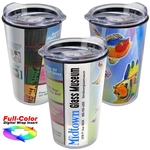 14 oz. Transparent Tumbler with full-color insert